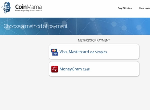 coinmama payments