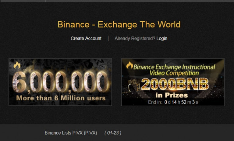 Binance exchange for buying ltc